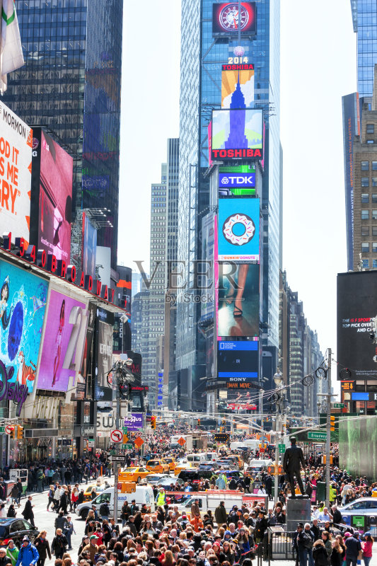 数字标牌 路 纽约州 摩天大楼 运输 交通堵塞 纽约 黄色 国内著名景点