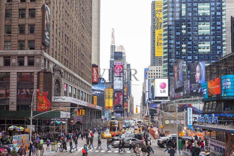 数字标牌 路 纽约州 摩天大楼 交通堵塞 纽约 国内著名景点 旅游目的