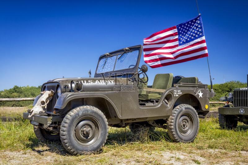 吉普 伪装色 军事 运输 陆用车 白昼 军用车 欧洲 威利斯 军队 汽车 美国 高清图片