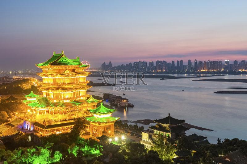 长江 河流 南昌市 户外 建筑