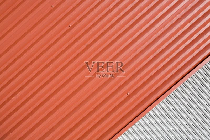 条纹-设计 建筑特色 成一排 建筑结构 明亮 红色 式样 车库 墙 不平坦的