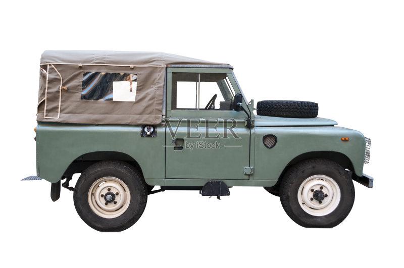 陆用车 远征 吉普 白色背景 冒险 无人 海滩车 敞篷车 度假 交通方式 高清图片