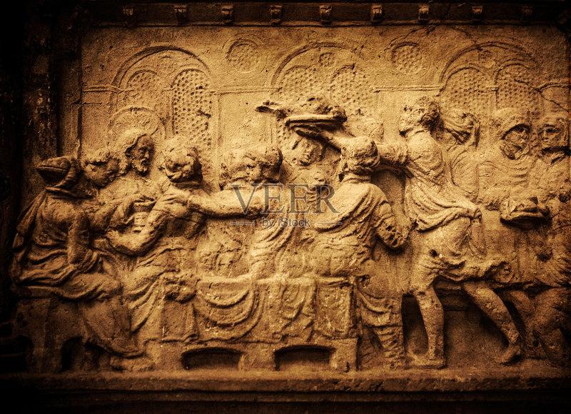 教堂 天主教 浮雕雕刻 大教堂 耶稣基督 寓言画 受难记 宗教 人体 宗教图片