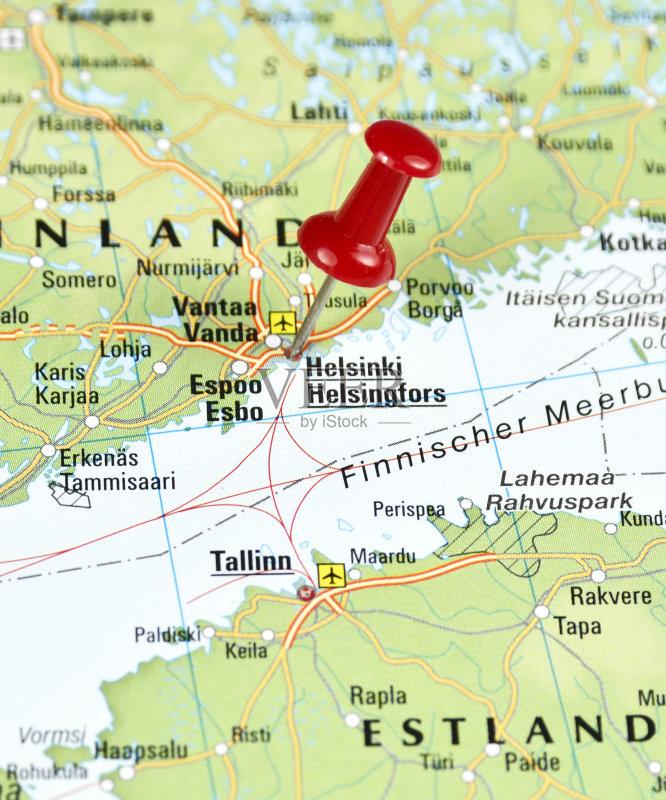 文化 首都 路线图 地图学 街道图 红色 芬兰 城市 珠针 无人 世界地图 地
