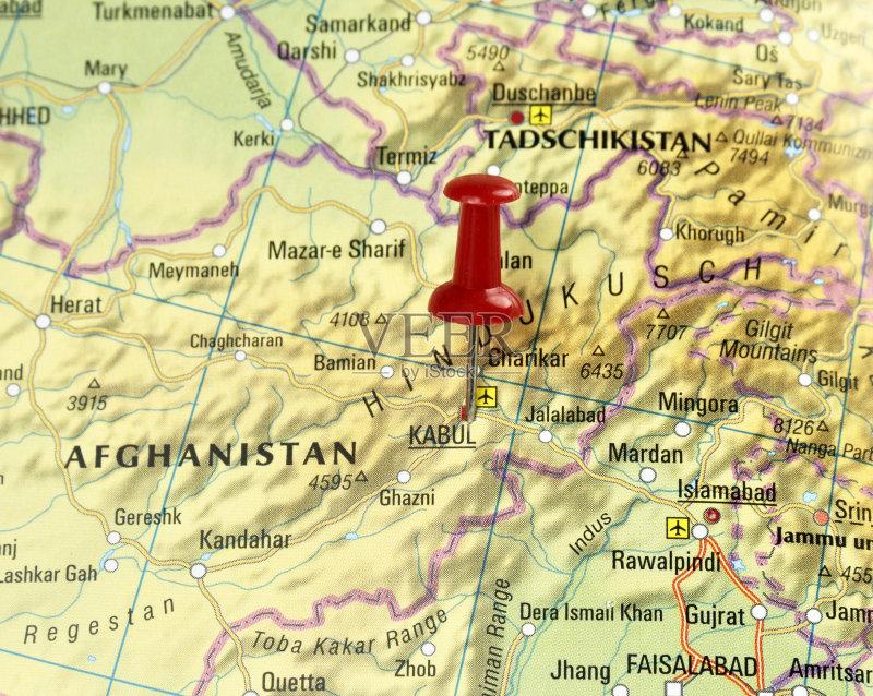端地形 文化 路线图 地图学 红色 珠针 世界地图 地图 阿富汗 旅行 焦点