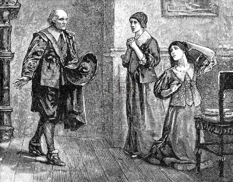 古老的 帽子 20世纪 画画 寓言画 室内 英国 童话故事 家庭 悲痛 英国