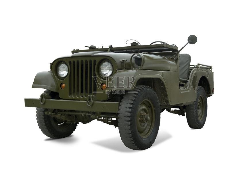 战争 吉普 军事 过时的 老爷车 陆用车 古老的 无人 美国军事 第二次世界高清图片
