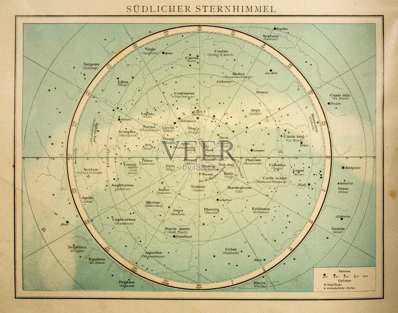 座 有序 食 星图 无人 行星月亮 月亮 赤道线 地图 空间和天文学 南