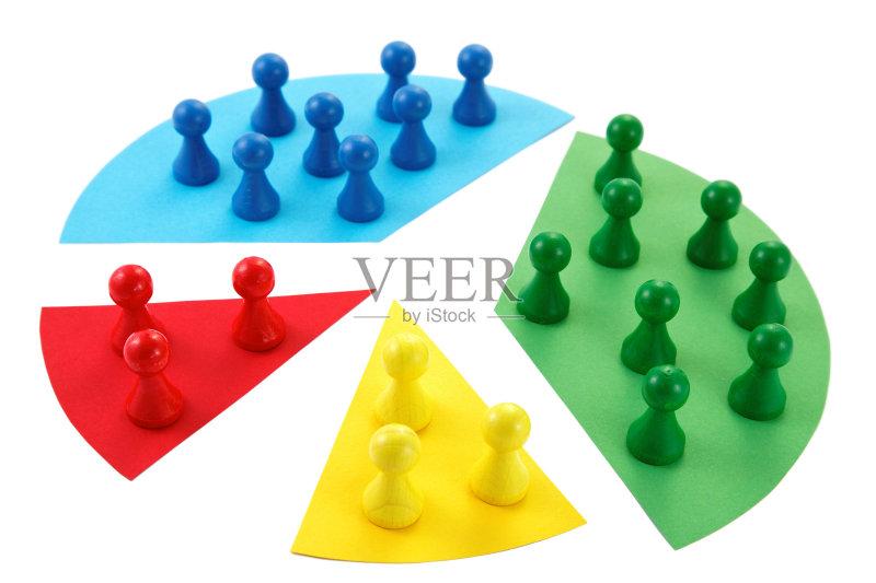 团队 部分 人口普查 图表 卒子 棋子 饼图 绿色 除法 蓝色 图 商务 顾客