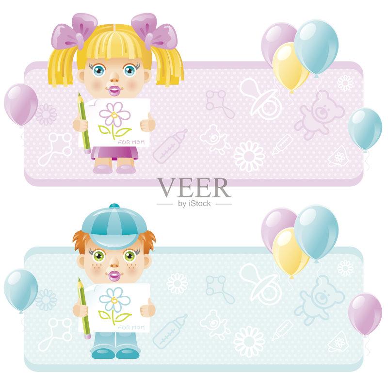 铅笔画 母亲节 蝴蝶结 泰迪熊 男性 女性 祝贺 母亲 微笑 拟人笑脸 玩具 图片