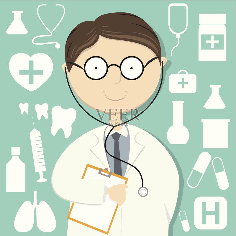 服务 工业 医疗标志 注射器 药丸 血清样品 全科医师 矢量 成年人 医生图片