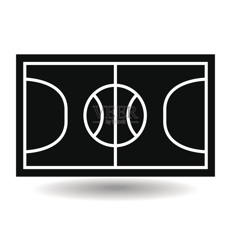 球运动 球场 符号 式样 线条 运动 体育场 平坦的 生活方式 竞技运动
