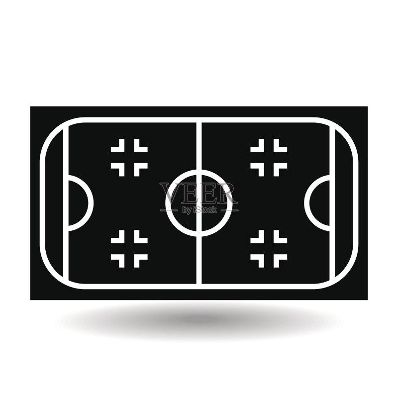 冬天 球场 符号 式样 线条 运动 体育场 冬季运动 平坦的 生活方式 竞