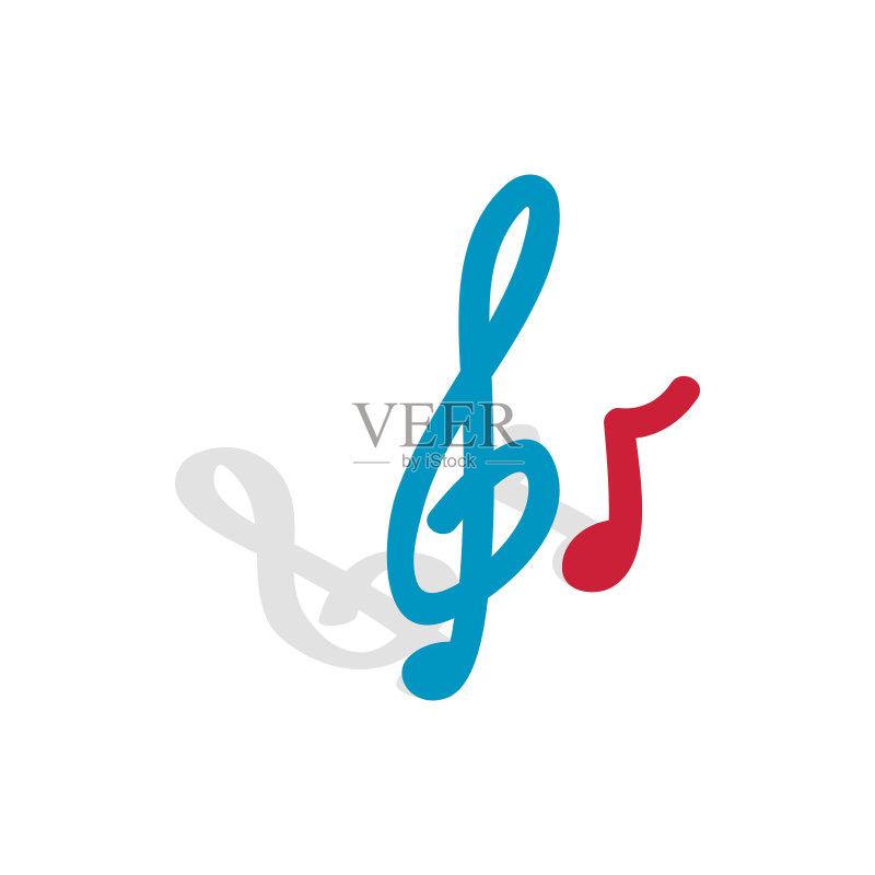 音乐 艺术文化和娱乐 高音谱号 低音谱号 音符 绘画插图 噪声 图标 标