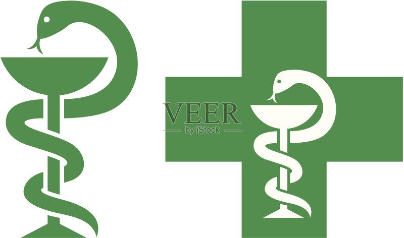 药房 无人 医疗标志 徽章 绿色 绘画插图 艺术文化和娱乐 符号 矢量 标志图片