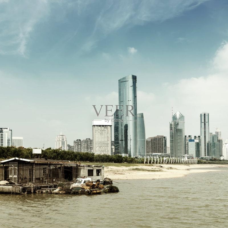 中国 办公室 南昌市 旅行者 云 河流 现代