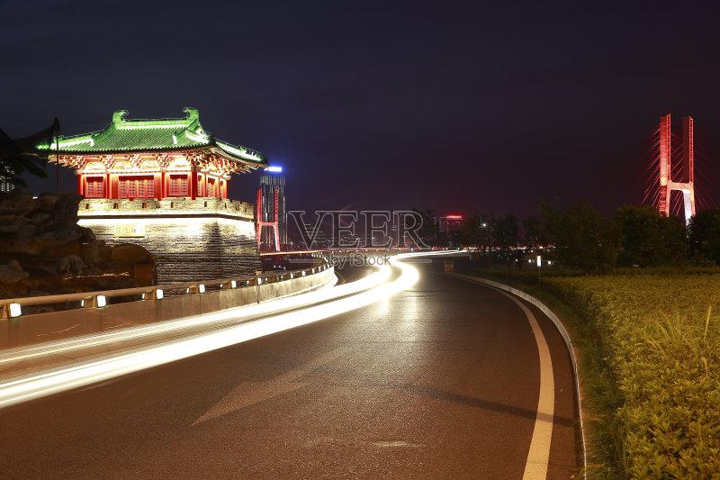 南昌市-文化 市区路 光 路 运输 江西省 亚洲 中国 建筑外部 纹理 艺术文