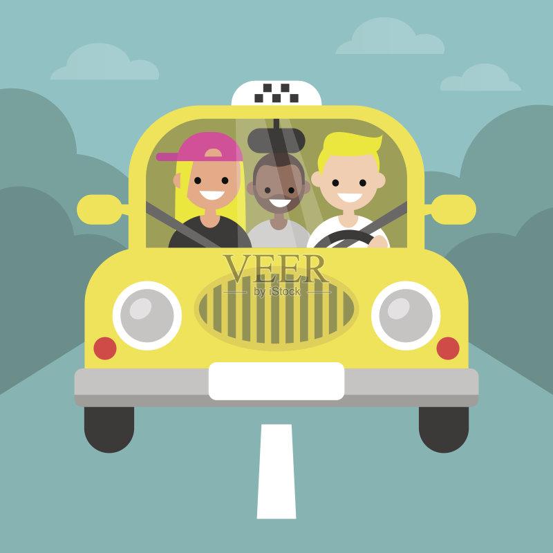 儿童汽车剪贴画
