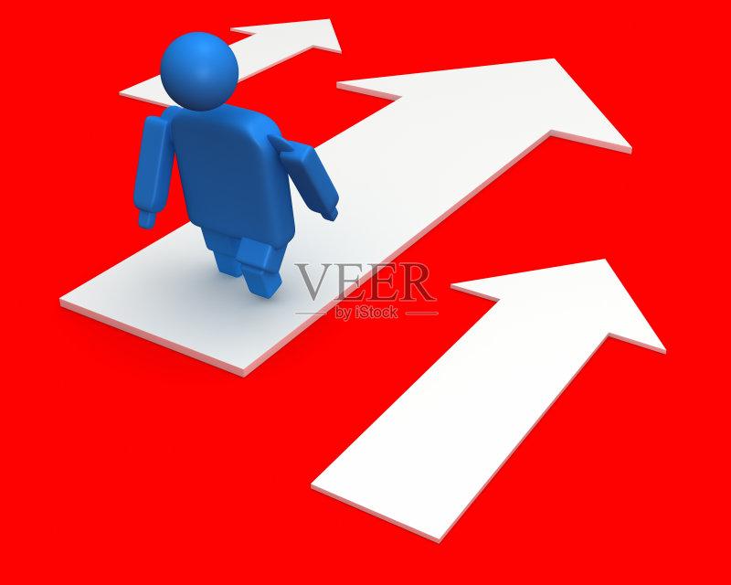 标记-人 选择 路 形状 方向标 完美 问号 生活方式 布告栏 上升 竞争 想象