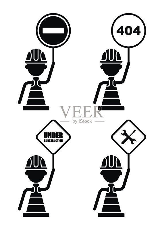 图表 建筑业 符号 路 运输 交通堵塞 禁止的 建造 工作 交通标志 阴影对