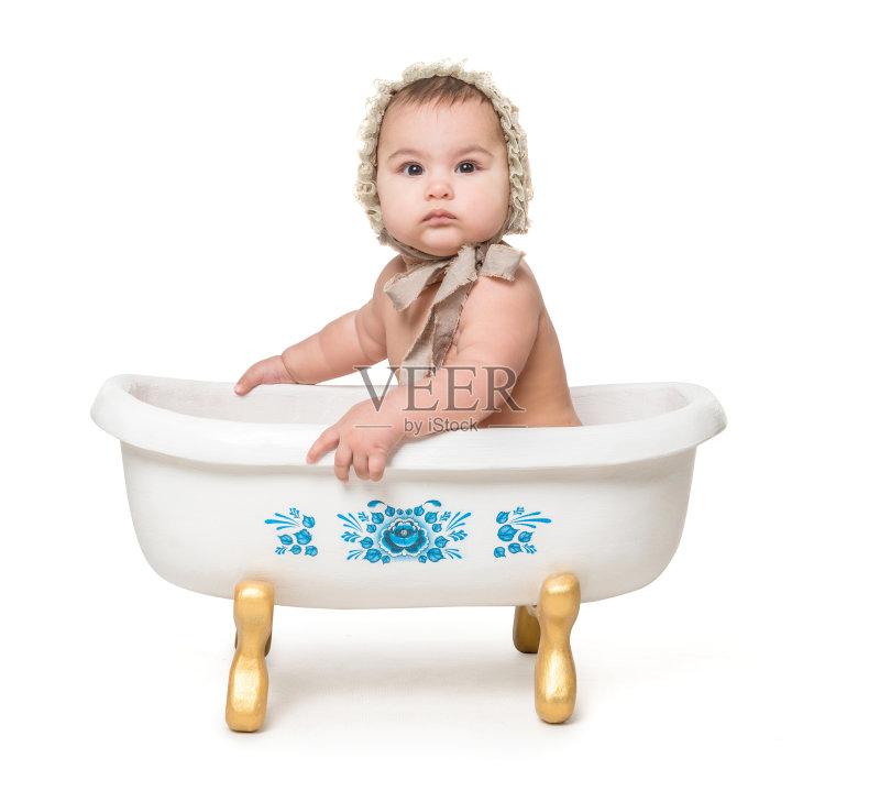 乐趣 白人 洗澡 儿童 纯洁 人体 洗澡盆 小的 婴儿 坐 人的脸部 背景图片
